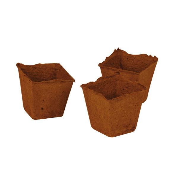 Jardivista - 24 Tiestos biodegradables 6x6cm