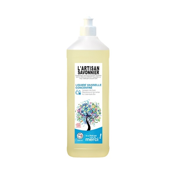 L'Artisan Savonnier Entretien - Liquide vaisselle concentré au calendula 50cl