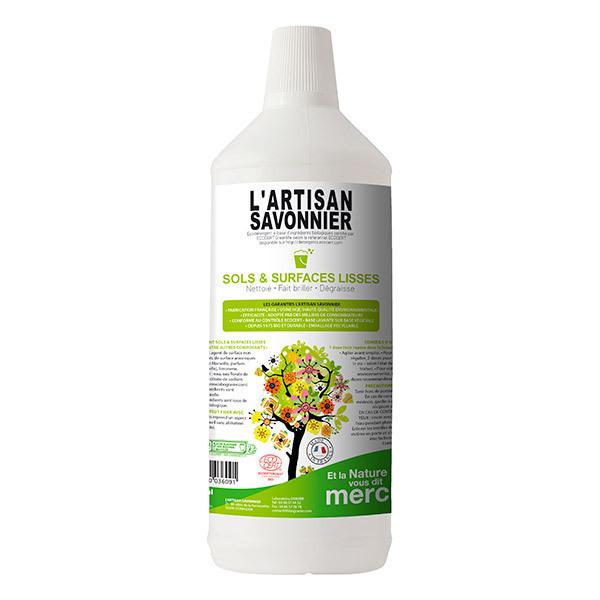 L'Artisan Savonnier Entretien - Nettoyant Sols et surfaces lisses 1L