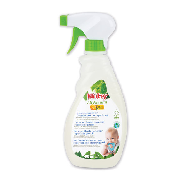 Nuby Citroganix™ - All Natural Antibacterial Spray for Surfaces and Toys 400ml
