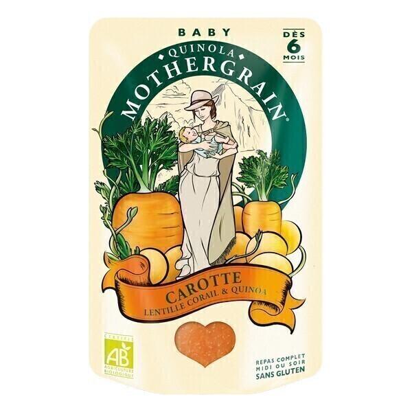 Quinola Mothergrain - Organic Carrot Red Lentils & Quinoa Baby Food 6M+
