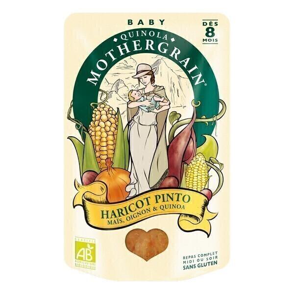 Quinola Mothergrain - Organic Pinto Beans Sweetcorn & Quinoa Baby Food 8M+
