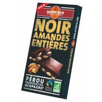 Alter éco - Chocolat Noir Amandes Entières 200g