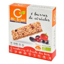 BioSoleil - 6 Barres Cranberry, fruits des bois