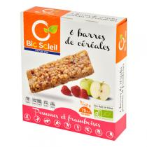 Bio Soleil - Apple & Raspberry Cereal Bar x6
