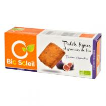 Bio Soleil - Fig Flavoured Palet Biscuits with Linseeds