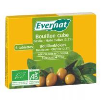 Evernat - Bouillon Cube Basilic Huile d'olive 66g