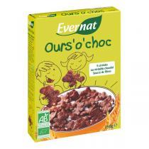 Evernat - Ours'o'choc, Céréales petit déjeuner au chocolat, 250g