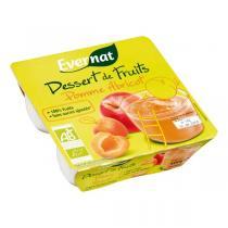Evernat - Dessert de fruits pomme abricot 4x100g