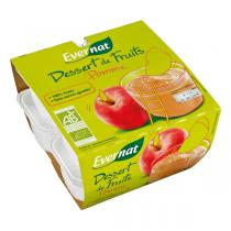 Evernat - Dessert de fruits pommes 8x100g