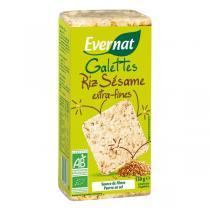 Evernat - Tortas de arroz con sésamo extra finos 130g