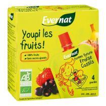Evernat - Gourde Youpi Fraise Cassis 4x85g