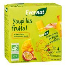 Evernat - Gourde Youpi Mangue Passion 4x85g