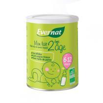 Evernat - Mon lait 2eme âge, 6-12 mois, 900g