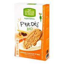 Le Moulin du Pivert - Breakfast Chocolate and Honey Biscuits 190g