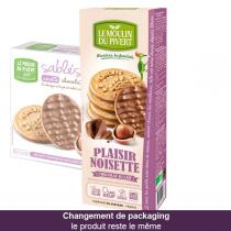 Le Moulin du Pivert - Plaisir Noisette Nuts and Milk Chocolate Biscuits 130g