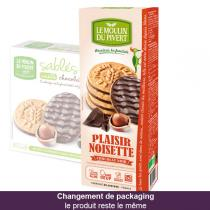 Le Moulin du Pivert - Plaisir Noisette Nuts and Dark Chocolate Biscuits 130g