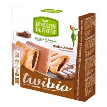 Le Moulin du Pivert - Twibio Chocolate Duo Biscuits 150g