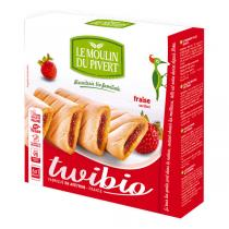 Le Moulin du Pivert - Twibio Strawberry Filled Biscuits 150g