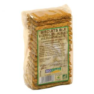 Bio Soleil - 5 Cereal Biscuits with Seaweed