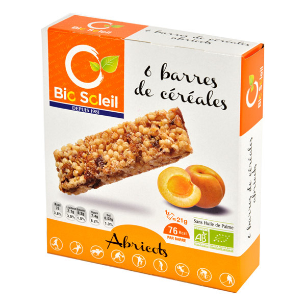 Bio Soleil - Apricot Cereal Bar x6