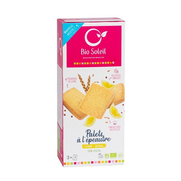Bio Soleil - Palets quinoa citron 165g