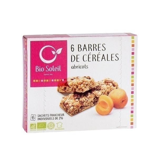 Bio Soleil - 6 barres abricots 125g