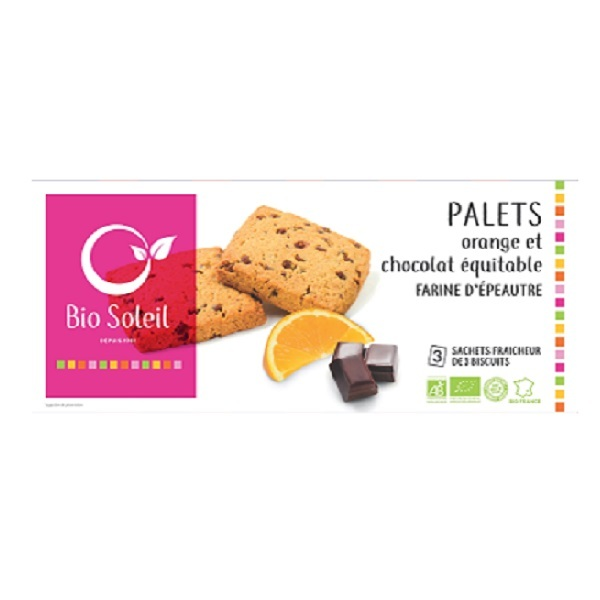 Bio Soleil - Chocolate & Orange Palet Biscuits