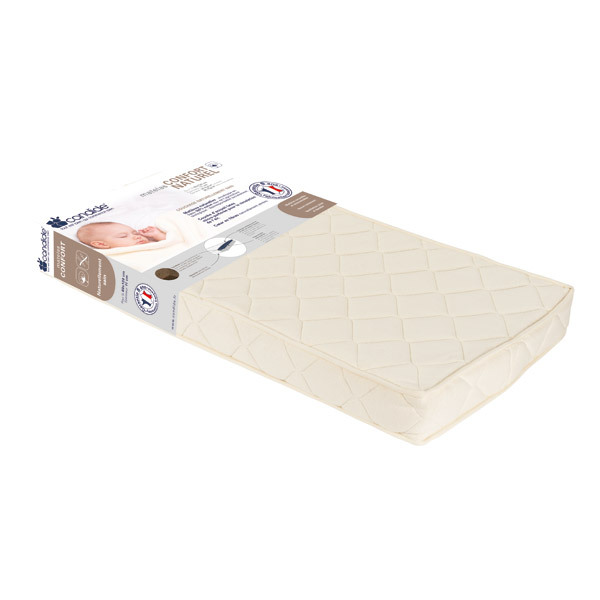 matelas confort naturel 70x140x11cm candide la r f rence bien tre bio b b. Black Bedroom Furniture Sets. Home Design Ideas