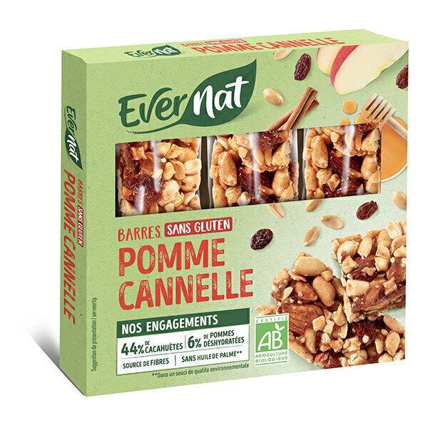 Evernat - Barritas de Manzana a la Canela 3x25g