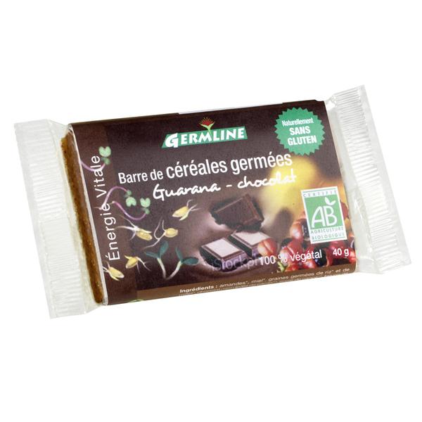 Germ'line - Barra de cereales germinados Guaraná Chocolate 40g