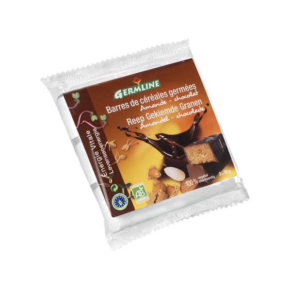 Germ'line - Barras de cereales germinados Almendra Chocolate 3x30g