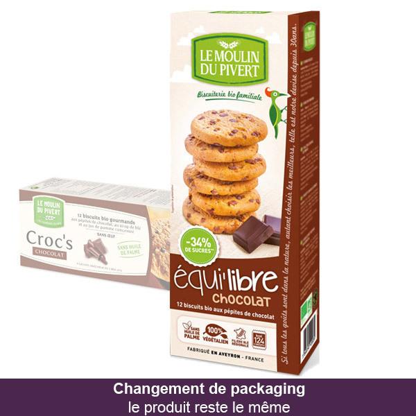 Le Moulin Du Pivert - Biscuits bio Croc's Chocolat 150g