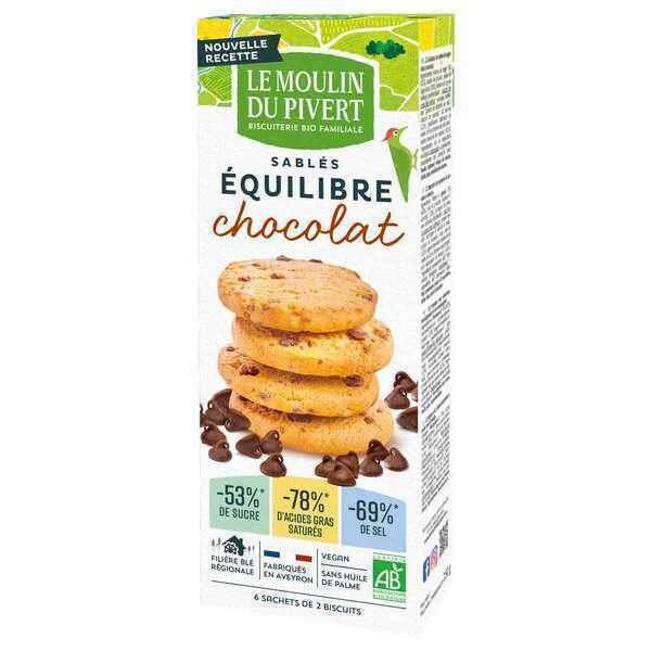 Le Moulin du Pivert - Biscuits bio Equi'libre Chocolat 150g