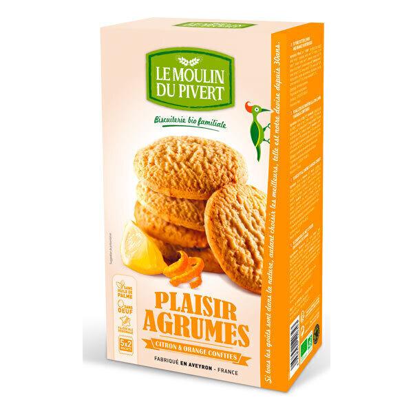 Le Moulin du Pivert - Biscuits Bio Plaisir Agrumes 175g