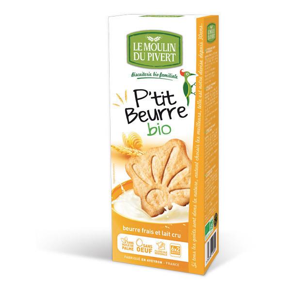 Le Moulin du Pivert - Biscuits P'tit Beurre Bio 155g