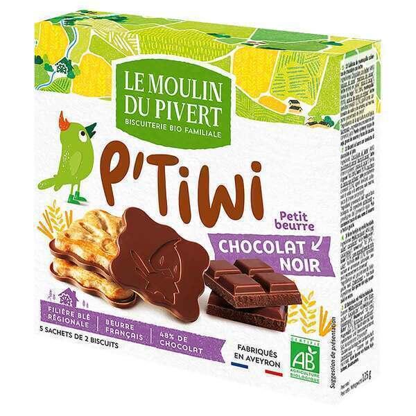 Le Moulin du Pivert - P'tiwi Bio Chocolat Noir 125g