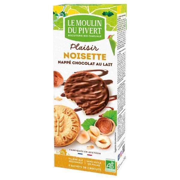 Le Moulin du Pivert - Sablés Plaisir Noisette Bio Chocolat au lait 130g