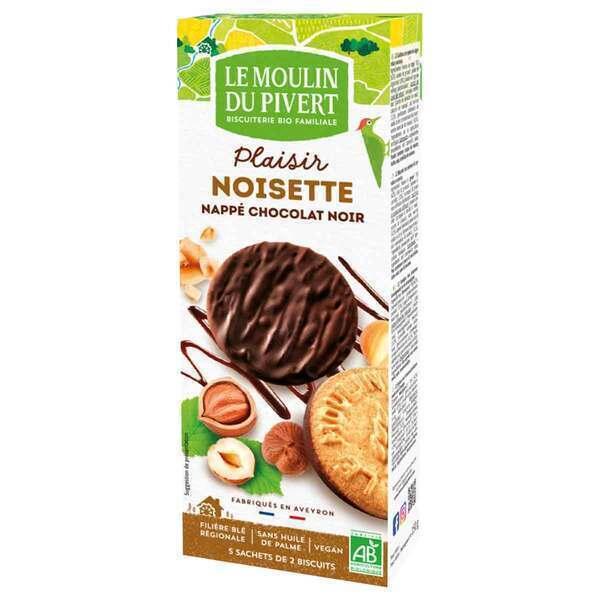 Le Moulin du Pivert - Sablés Plaisir Noisette Bio Chocolat noir 130g