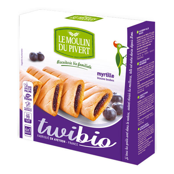 Le Moulin du Pivert - Twibio Blueberry Filled Biscuits 150g