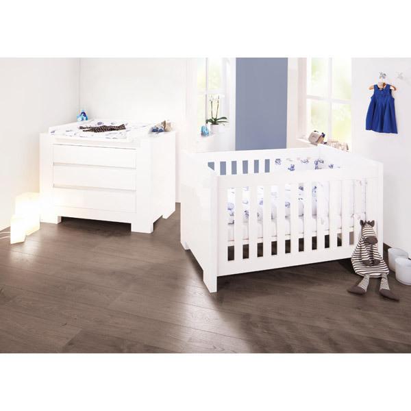 Chambre Bébé Kitty Blanc : Chambre bébé sky laqué blanc pinolino natiloo la