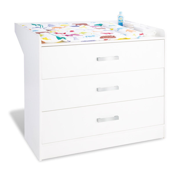 Commode langer viktoria blanc laqu pinolino natiloo for Commode table a langer bebe