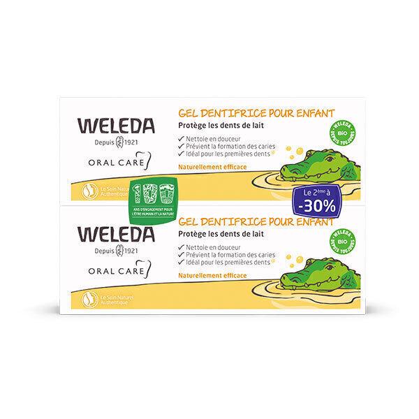 Weleda - Lot de 2 Gel Dentifrice Enfant 50ml