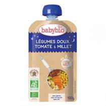 Babybio - Gourde Bonne Nuit Tomate Millet dès 6 mois - 120gr