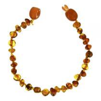 BalticWay - Bracelet Billes en Ambre Cognac Clip