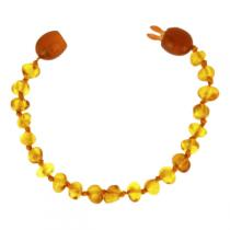 BalticWay - Bracelet enfant Ambre Billes Honey Clip
