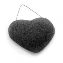 DermoTechnic - Heart Shaped Konjac Sponge with Bamboo Charcoal