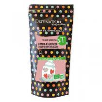 Destination - Grüner Tee mit Erdbeer-Rhabarber Geschmack - 80 g