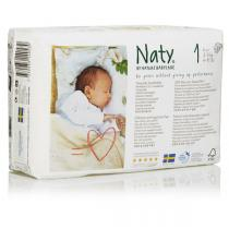 Nature Babycare - 4 Packs of 26 Eco Nappies Size 1 Newborn 2-5kg