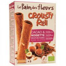 Le pain des fleurs - Biscuits Fourrés Cacao Noisette - Crousty Roll Bio 125g